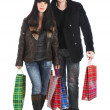 The man and the woman - shopping — Stock Photo