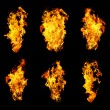 Six languages a flame — Stock Photo