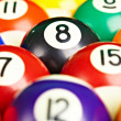 Photo billiard balls close up - Stock Photo