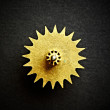 Gear on a black background - Stock Photo