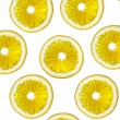 Slices of an orange on a white backgroun - Stock Photo