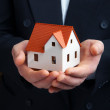 The house in a hand — Stock Photo