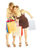 Two girls with bags. — Stock Photo