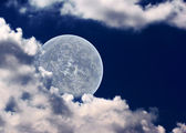The moon in clouds — Stock Photo