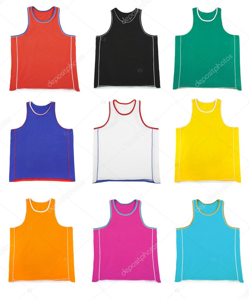 Multicoloured  sports shirt on a white background  Stock Photo #1321642