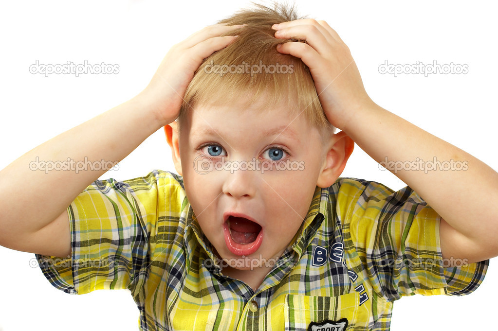 The boy the blonde experiences emotions.  — Stock Photo #1323193
