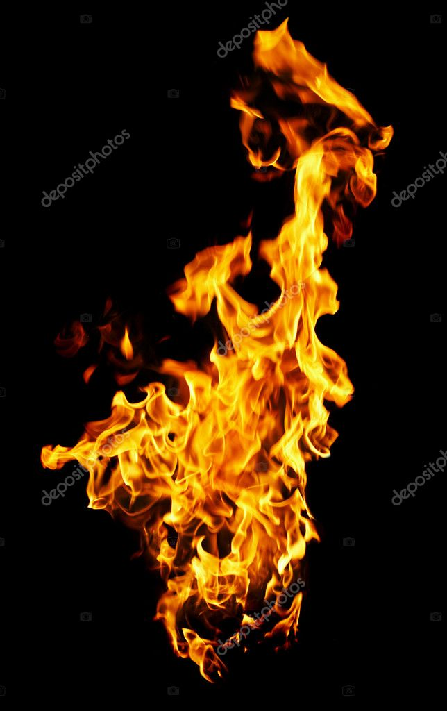 Fire photo on a black background ...  Stock Photo #1323497