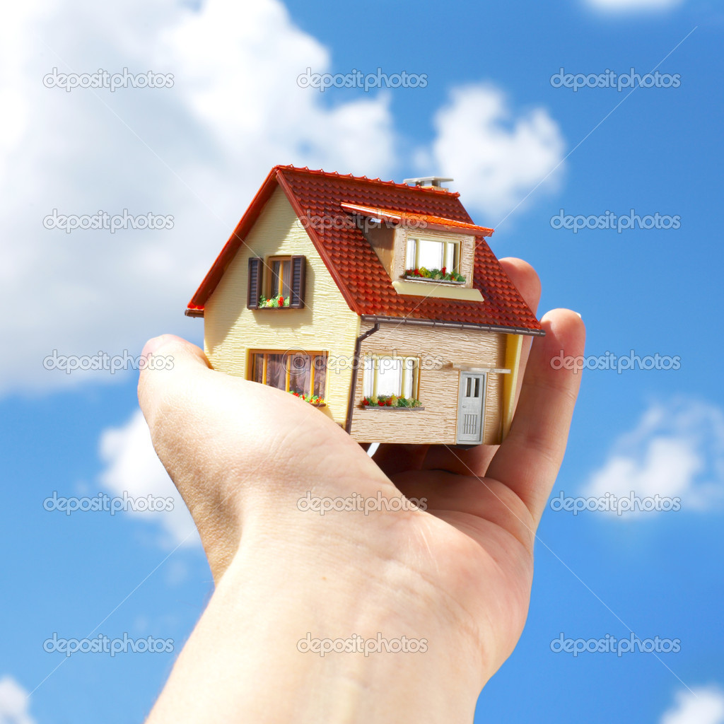 The house in human hands  Stock Photo #1324315