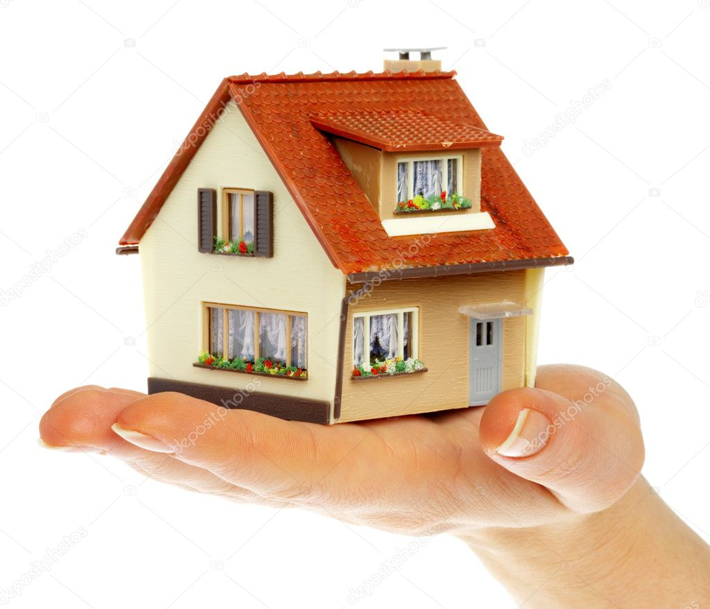 The house in human hands... — Foto de Stock   #1324383