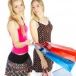 Royalty-Free Stock Photo: Two girls with bags