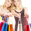 Two girls with bags — Stock Photo #1330186