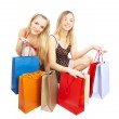 Two girls with bags — Stock Photo #1330199