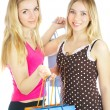 Two girls with bags — Stock Photo