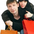 The man and the woman - shopping — Foto de Stock