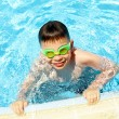 Boy in pool — Foto de Stock