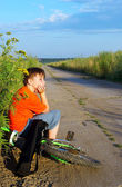 The boy on road — Stock Photo