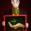 Person in a gas mask — Stock Photo #1622970
