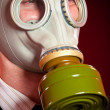 Person in a gas mask — Stock Photo #1623516