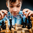 Nerd play chess — Stock Photo #1793293