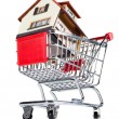House and shopping cart — Stock Photo