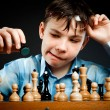 Nerd play chess — Stock Photo #2370894