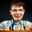 Nerd play chess — Stock Photo #2370929