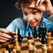 Nerd play chess — Stock Photo #2370996