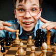 Nerd play chess — Stock Photo #2371059