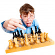 Nerd play chess — Stock Photo #2371127