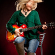 Girl with a guitar — Stock Photo