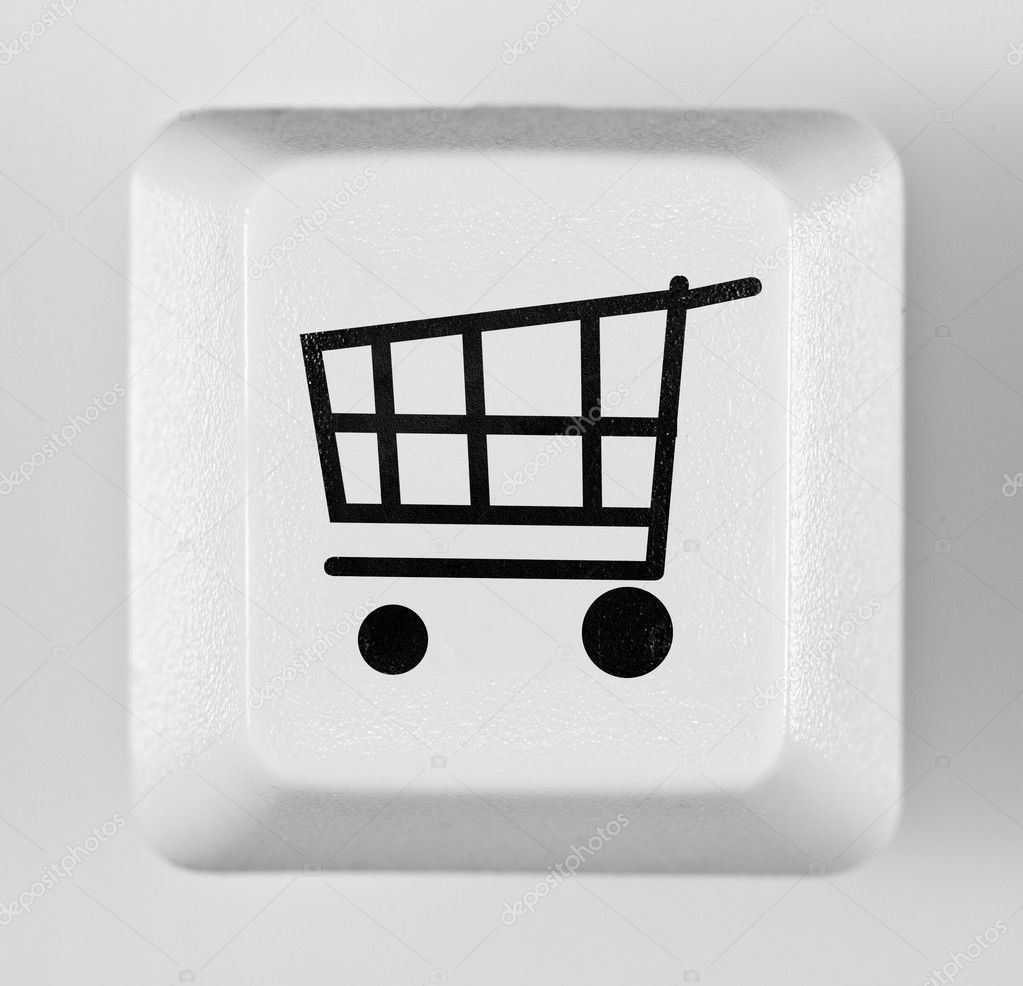 Button online shopping on the white — Stock Photo #2371621