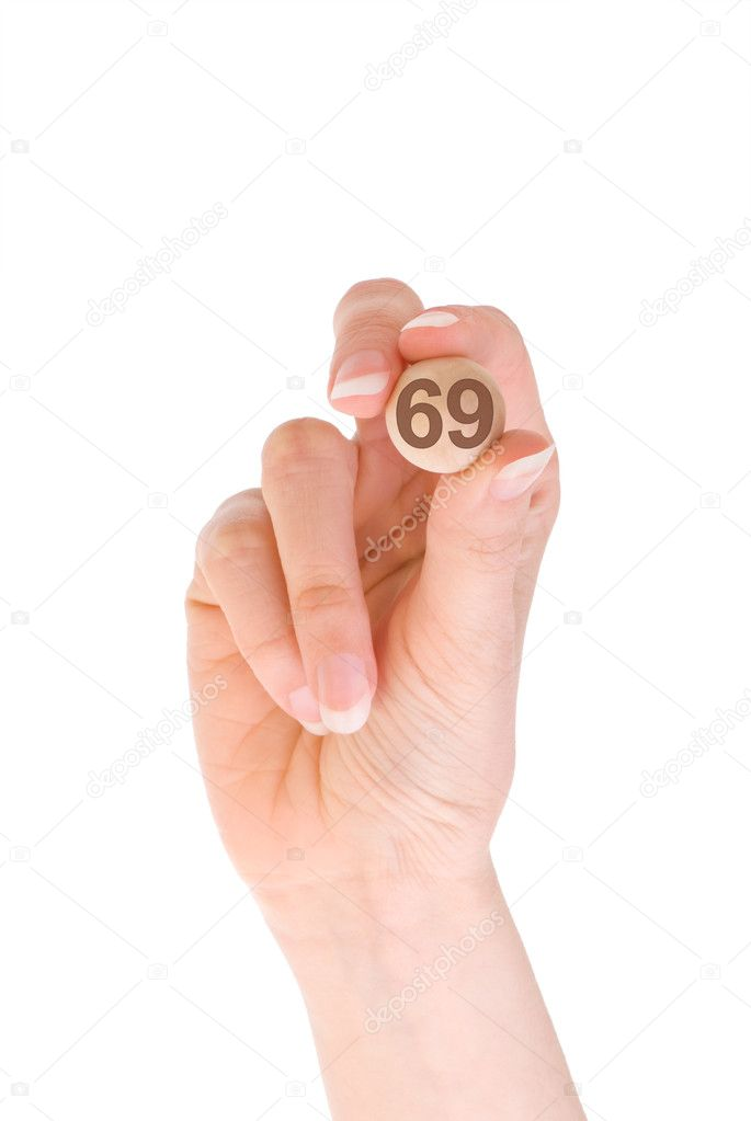 Bingo 69 ball in the hand  — Stock Photo #1157025