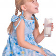 Girl with milk - Stock Photo