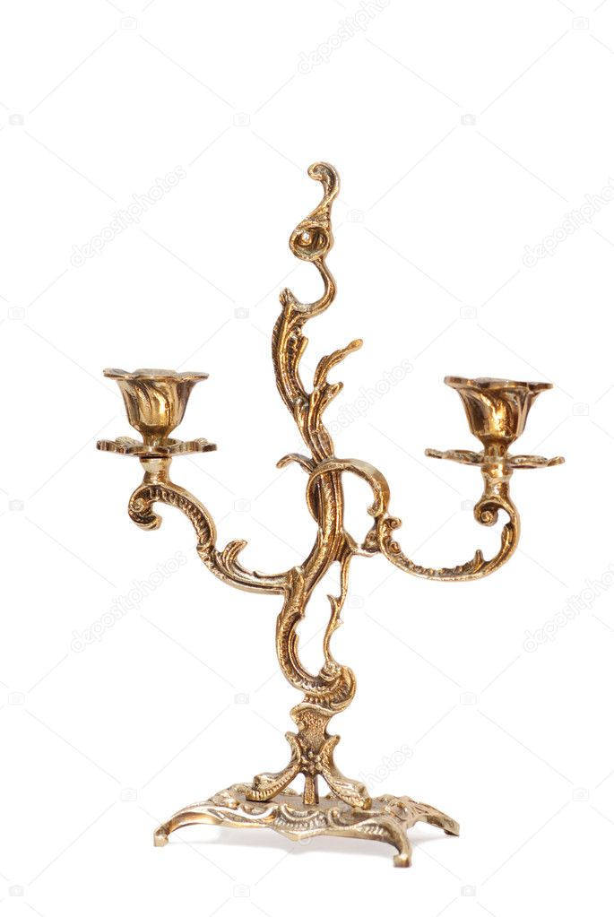 Candlestick gold two — Stock Photo #1213384