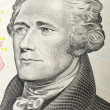 Close-up of Hamilton President Face on a dollar bill — Stock Photo #1112769