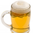 Lager beer mug with foam — Stock Photo