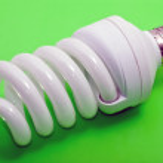 Electrical fluorescent energy-saving lam — Stock Photo