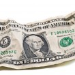 Crumpled dollar - Stock Photo