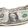 Royalty-Free Stock Photo: Crumpled dollar