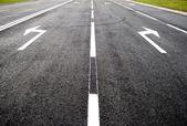 Переходим к новой жизни - улицы, дороги, стрелка — Стоковое фото