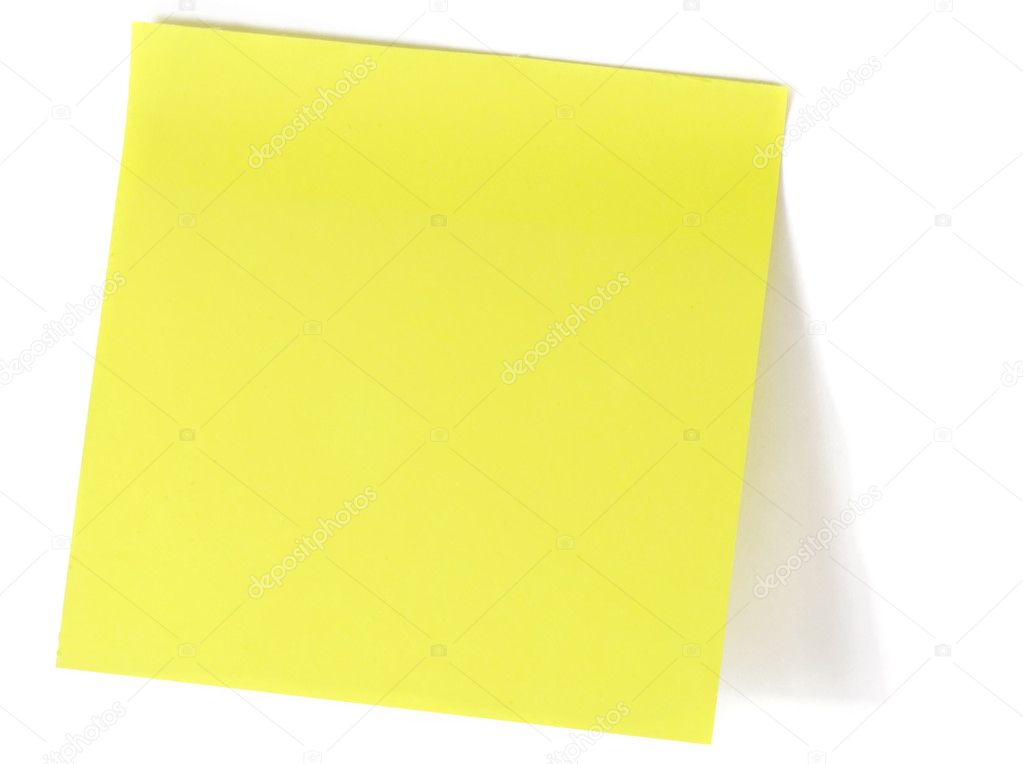 Note over white background — Stock Photo #1112540