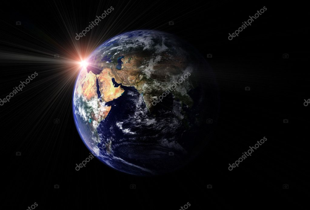 Earth and sun — Stock Photo #1112665