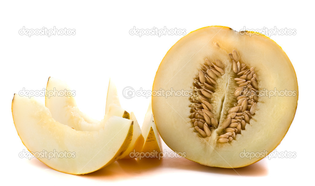 Melon slices on white background  Stock Photo #1113725