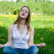 Stock Photo: Outdoor meditation