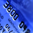 Close-up a credit card — Stock Photo