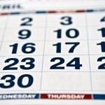 Calendar page — Stock Photo #1149223
