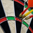 Stock Photo: Hit point in darts