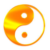 Yin-yang (Tai Chi), the symbol of the Gr — Stock Photo