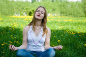 Outdoor meditation — Stock Photo