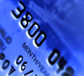 Close-up de um cartão de crédito — Fotografia Stock
